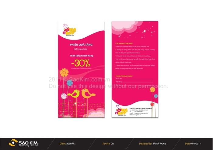 Thiết kế logo và hế thống nhận diên cho siêu thị thời trang HUGNKISS tại Hà Nội