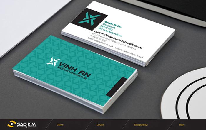 Thiết kế nhận diện thương hiệu cho Công ty Cổ Phần Đầu Tư Phát Triển Vĩnh An tại Nghệ An
