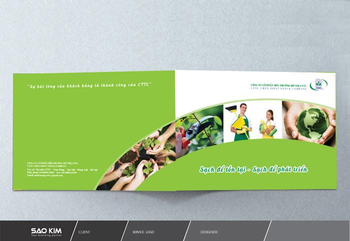 Thiết kế hồ sơ năng lực công ty Cổ phần Môi Trường Đô Thị CTTC tại Hà Nội
