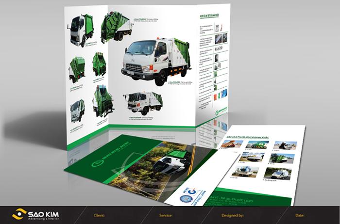 Thiết kế brocure dịch vụ vận tải công ty Đức Long tại TP HCM