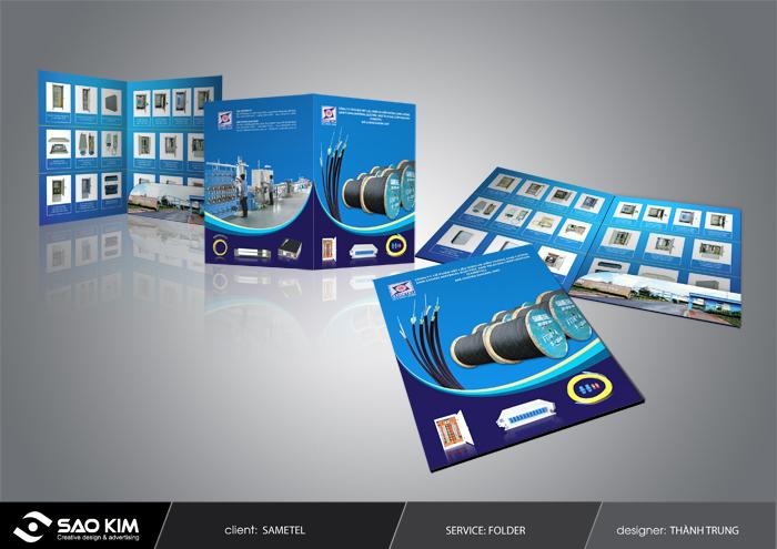 Thiết kế ấn phẩm quảng cáo cho Công ty Sam Cường tại TP HCM