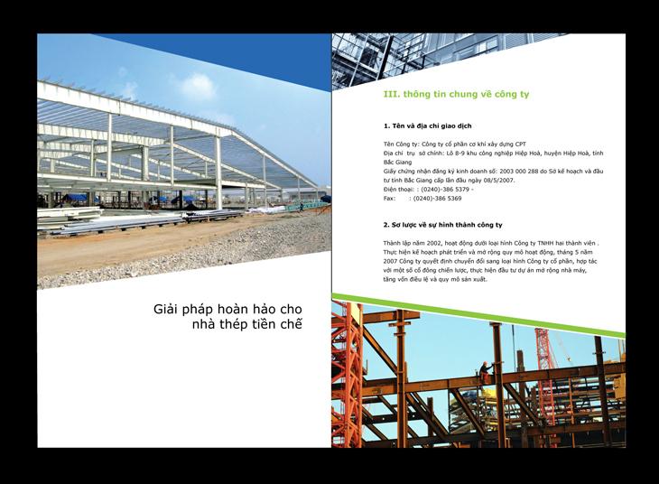 Thiết kế profile cho công ty xây dựng CPT tại Bắc Ninh