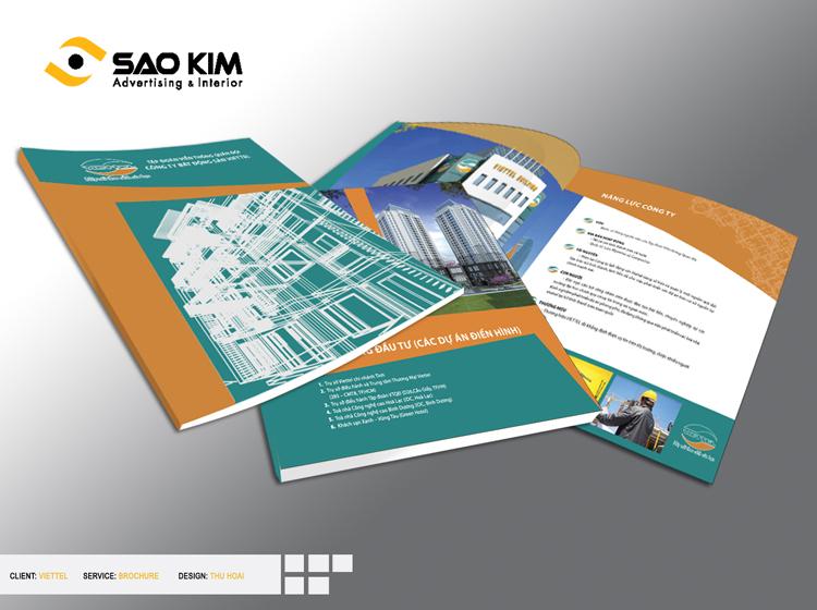 Thiết kế và sản phẩm profile công ty cho Viettel Land tại Hà Nội