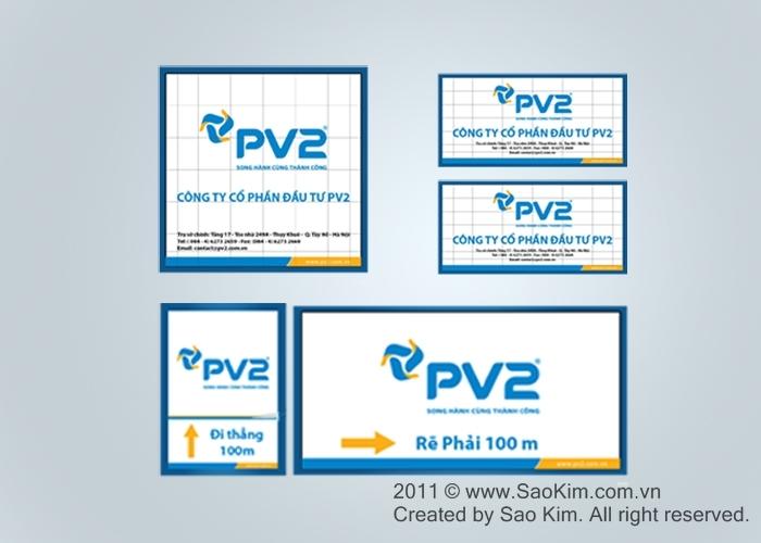 Thiết kế nhận diện thương hiệu cho Công ty Đầu tư PV2 tại Hà Nội
