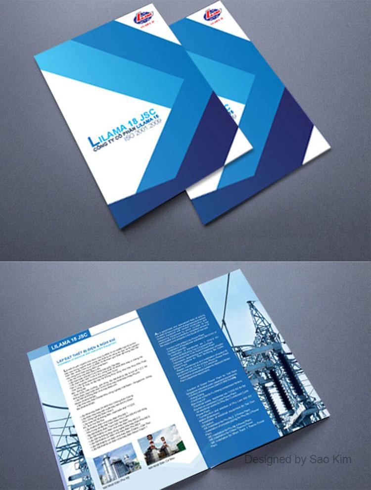 Thiết kế ấn phẩm quảng cáo cho công ty LILAMA 18 tại Hà Nội, TP HCM