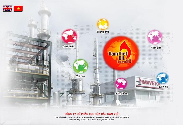 Thiết kế logo nhận diện thương hiệu hóa dầu Nam Việt tại Cần Thơ, TP HCM