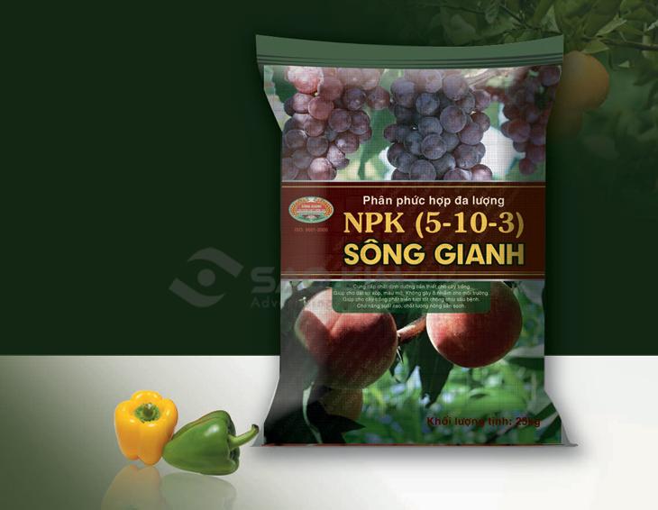 Thiết kế thương hiệu phân bón Sông Gianh tại Quảng Bình
