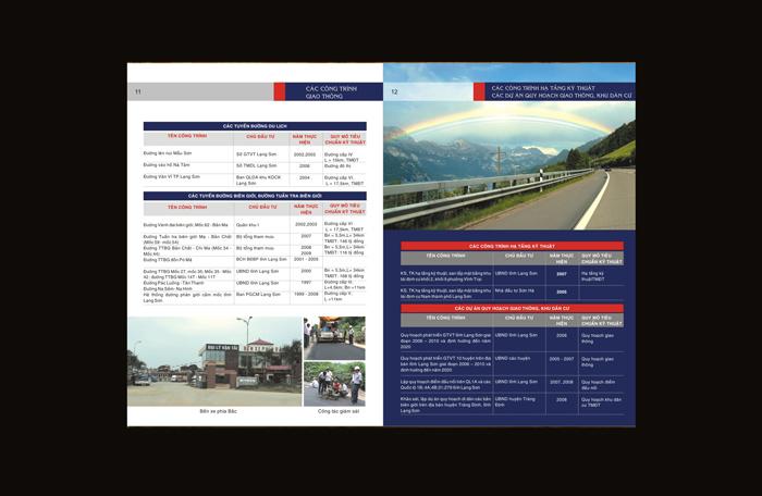 Thiết kế profile công ty tư vấn giao thông tại Lạng Sơn
