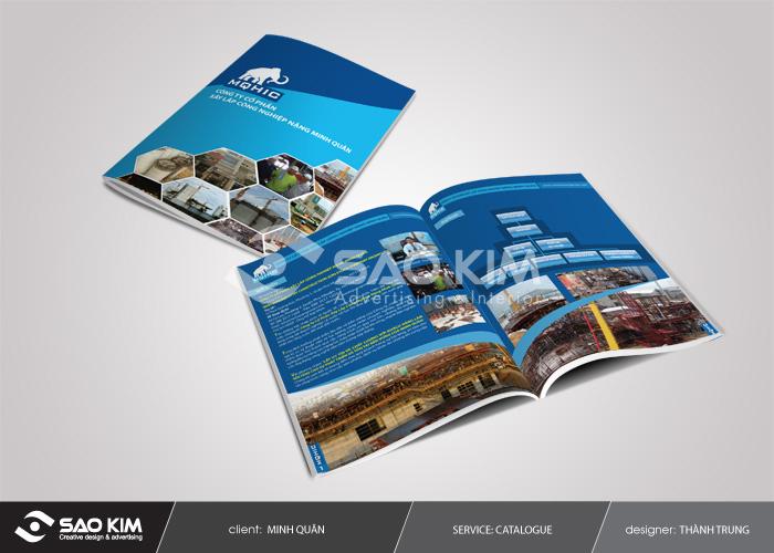 Thiết kế profile giới thiệu công ty xây lắp Minh Quan tại TP HCM