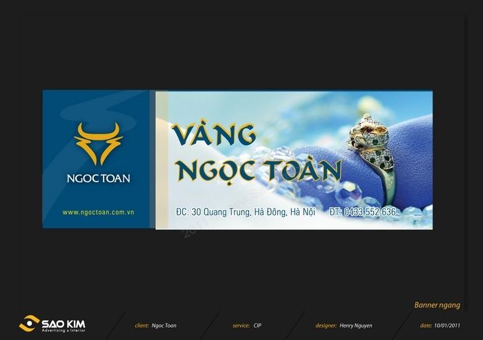 Thiết kế thương hiệu vàng Ngọc Toàn tại Hà Nội