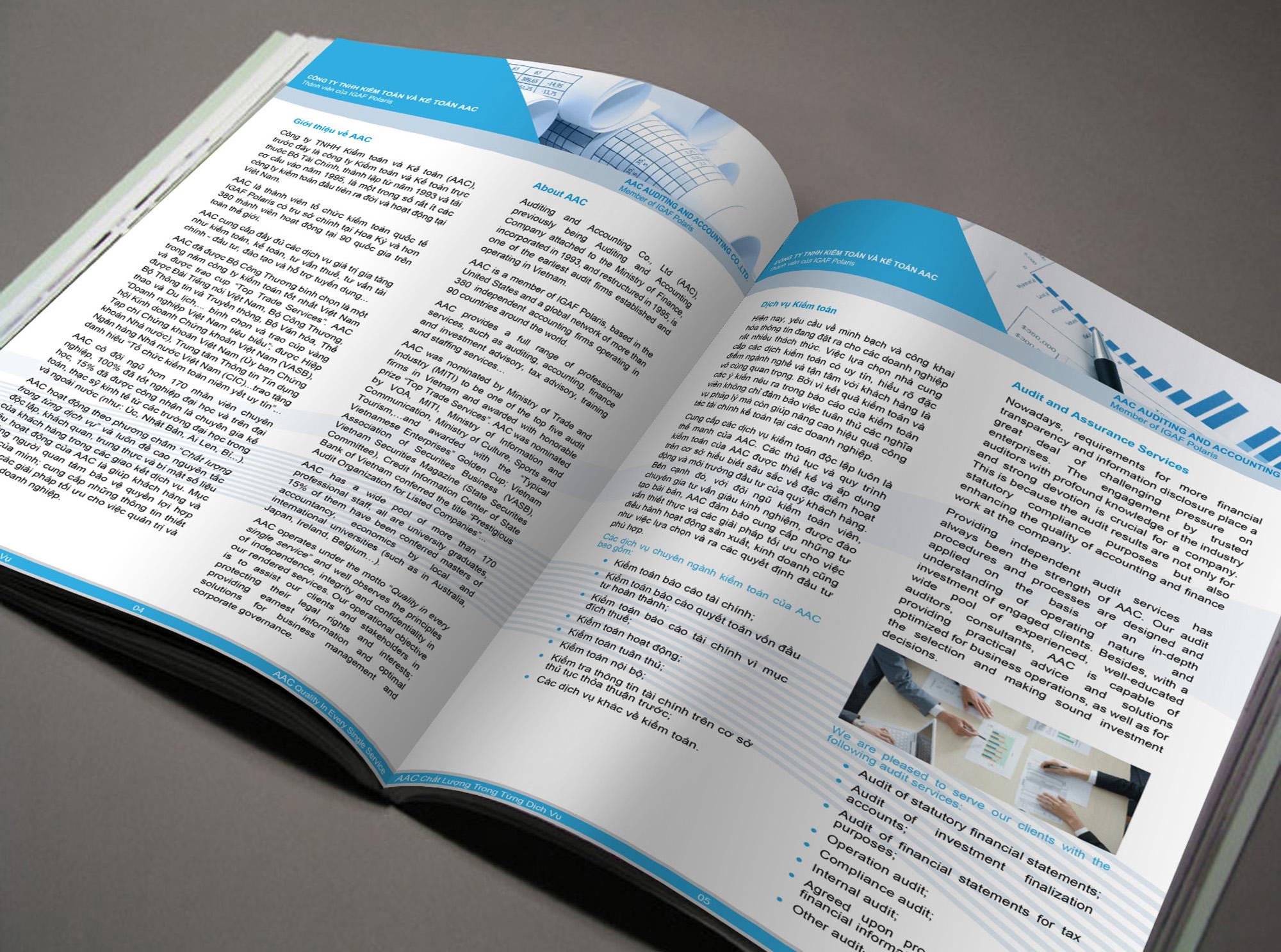 Thiết kế hồ sơ năng lực công ty Kiểm Toán và Kế Toán AAC tại Hà Nội, TP HCM