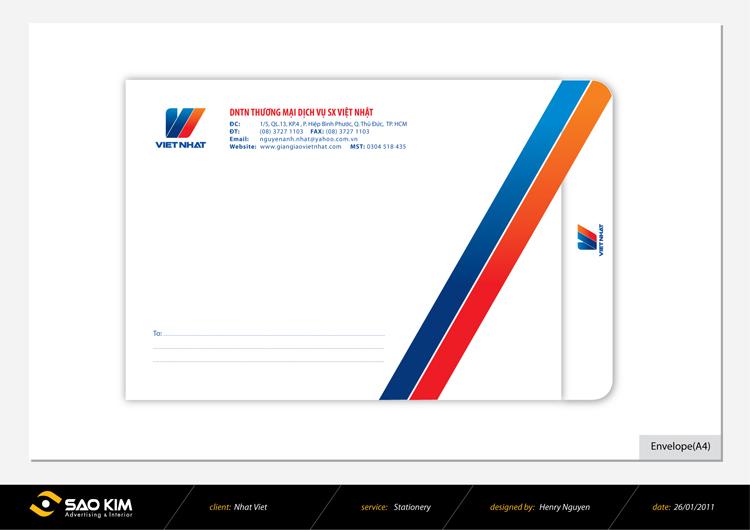 Thiết kế logo và nhận diện thương xây dựng Việt Nhật tại TP HCM