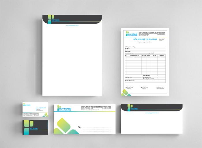 Thiết kế nhận diện thương hiệu công ty môi trường Huy Hoàng tại TP HCM