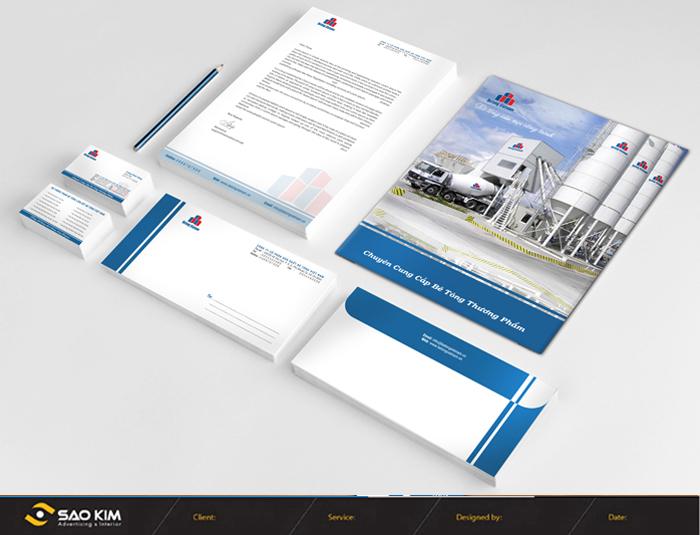 Thiết kế nhận diện thương hiệu công ty TNHH Thương mại Bê tông Việt Nam tại TP HCM