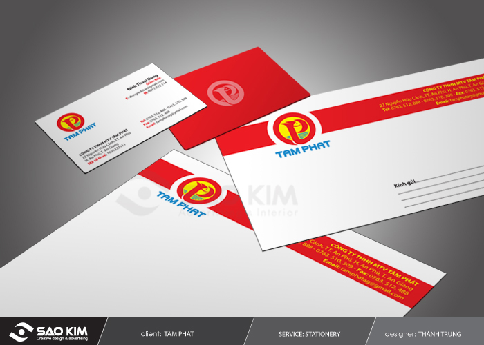 Thiết kế nhận diện thương hiệu công ty Tâm Phát tại TP HCM