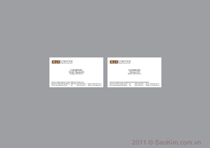 Thiết kế nhận diện thương hiệu cho Công ty xây dựng tại Hà Nội, TP HCM