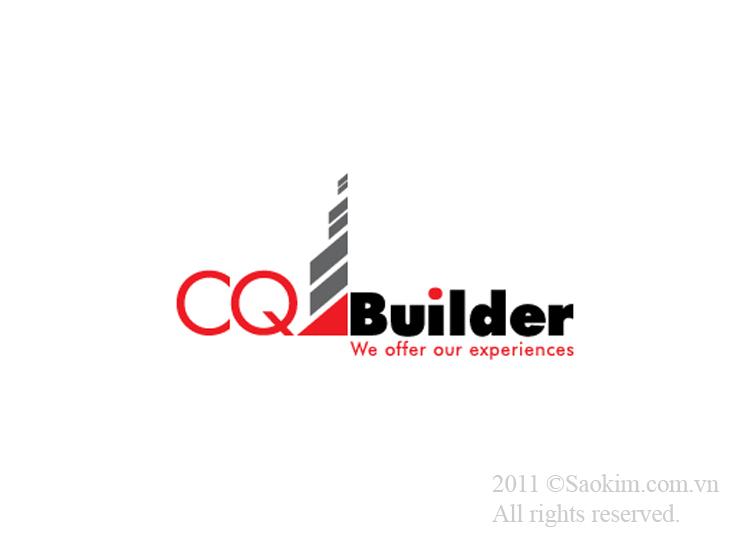Thiết kế logo cho công ty xây dựng CQ Builder tại TP HCM