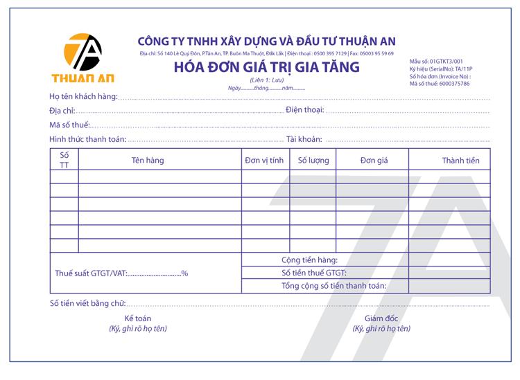 Thiết kế logo và nhận diện thương hiệu công ty xây dựng Thuận An tại Đắk Lắk