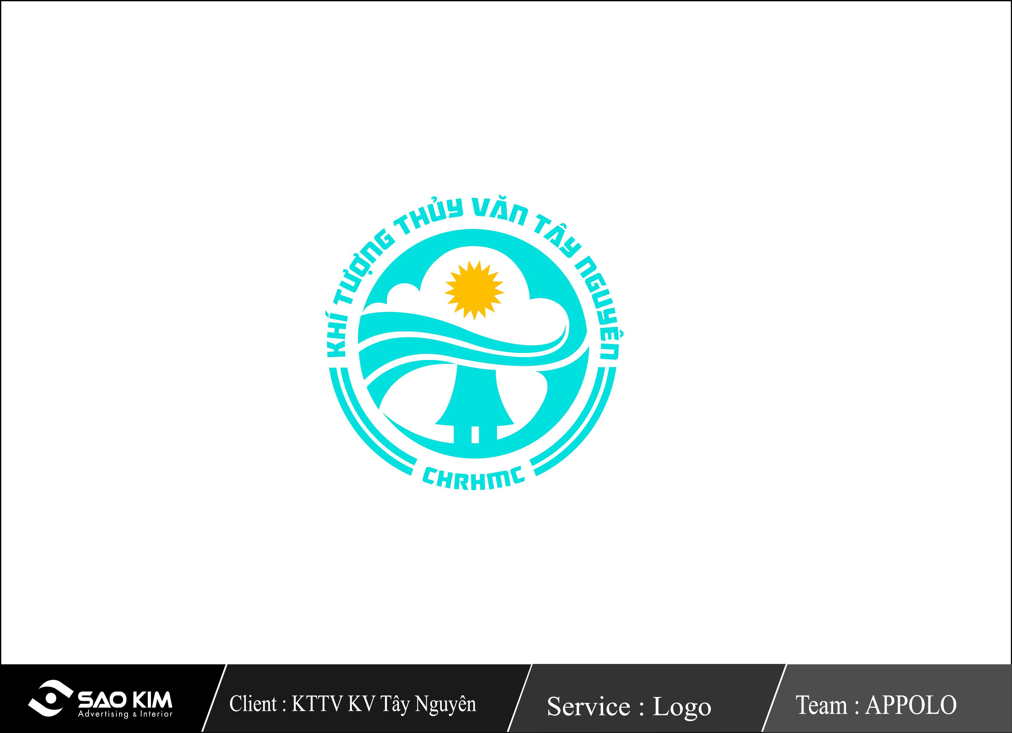 Thiết kế logo cho đài khí tượng thủy văn khu vực Tây Nguyên tại Đắk Lắk, Lâm Đồng
