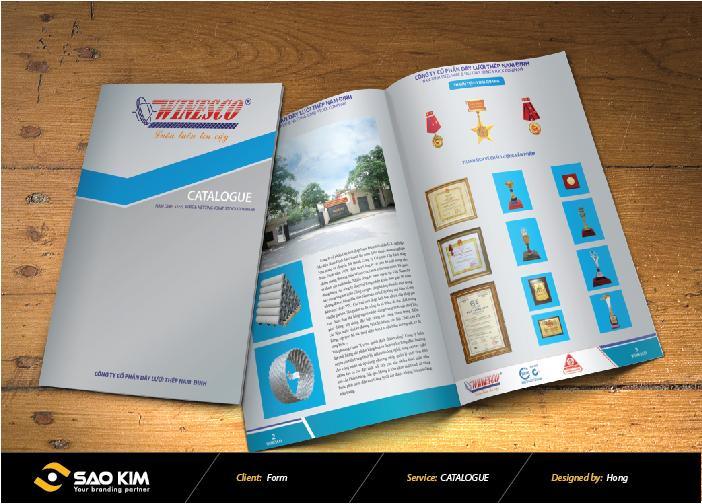 Thiết kế catalogue Dây Thép Nam Định tại Nam Định