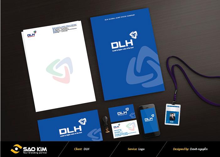Thiết kế logo Công ty Khoáng sản DLH tại Hải Phòng