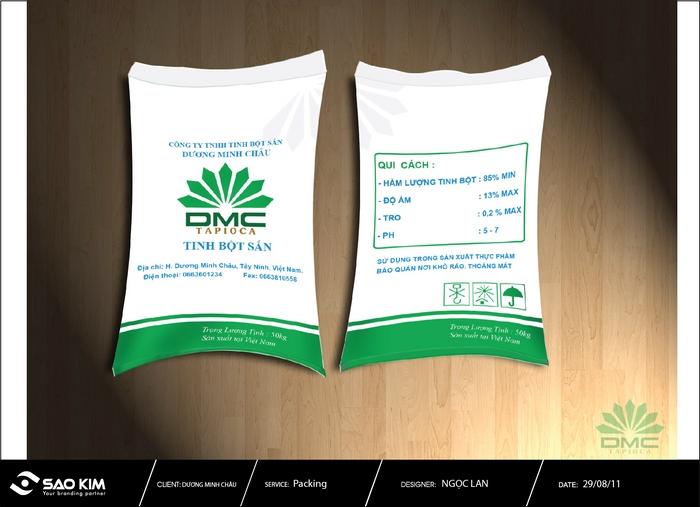 Thiết kế nhận diện thương hiệu Tinh bột sắn Dương Minh Châu tại Tây Ninh