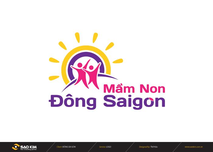 Thiết kế logo nhận diện thương hiệu trường mầm non Đông Sài Gòn tại TP HCM