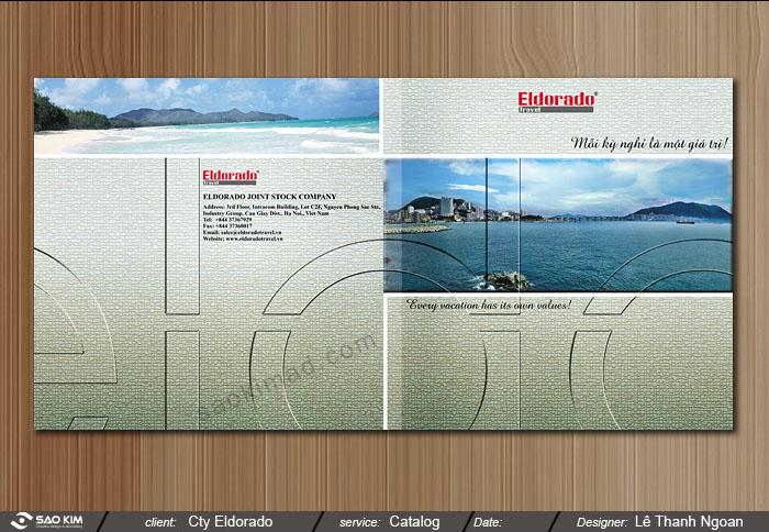 Thiết kế brochure du lịch Eldorado tại Hà Nội