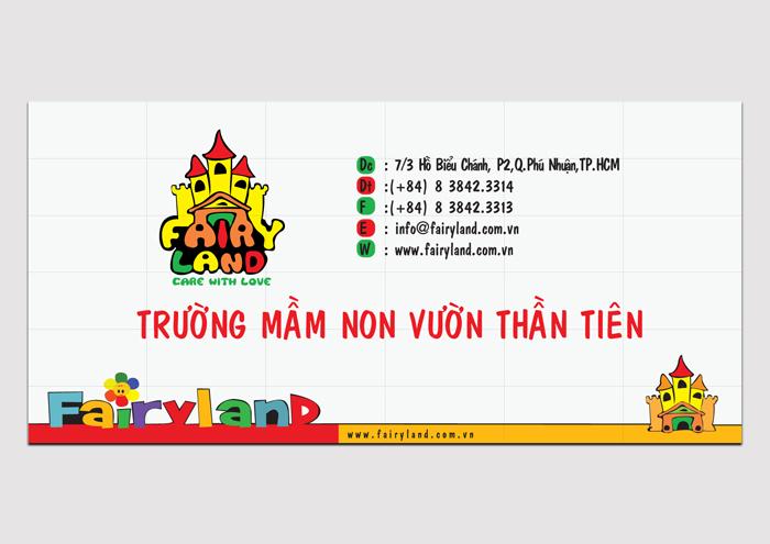 Thiết kế logo và hệ thống nhận diện cho trường mầm non Fairy Land tại TP HCM