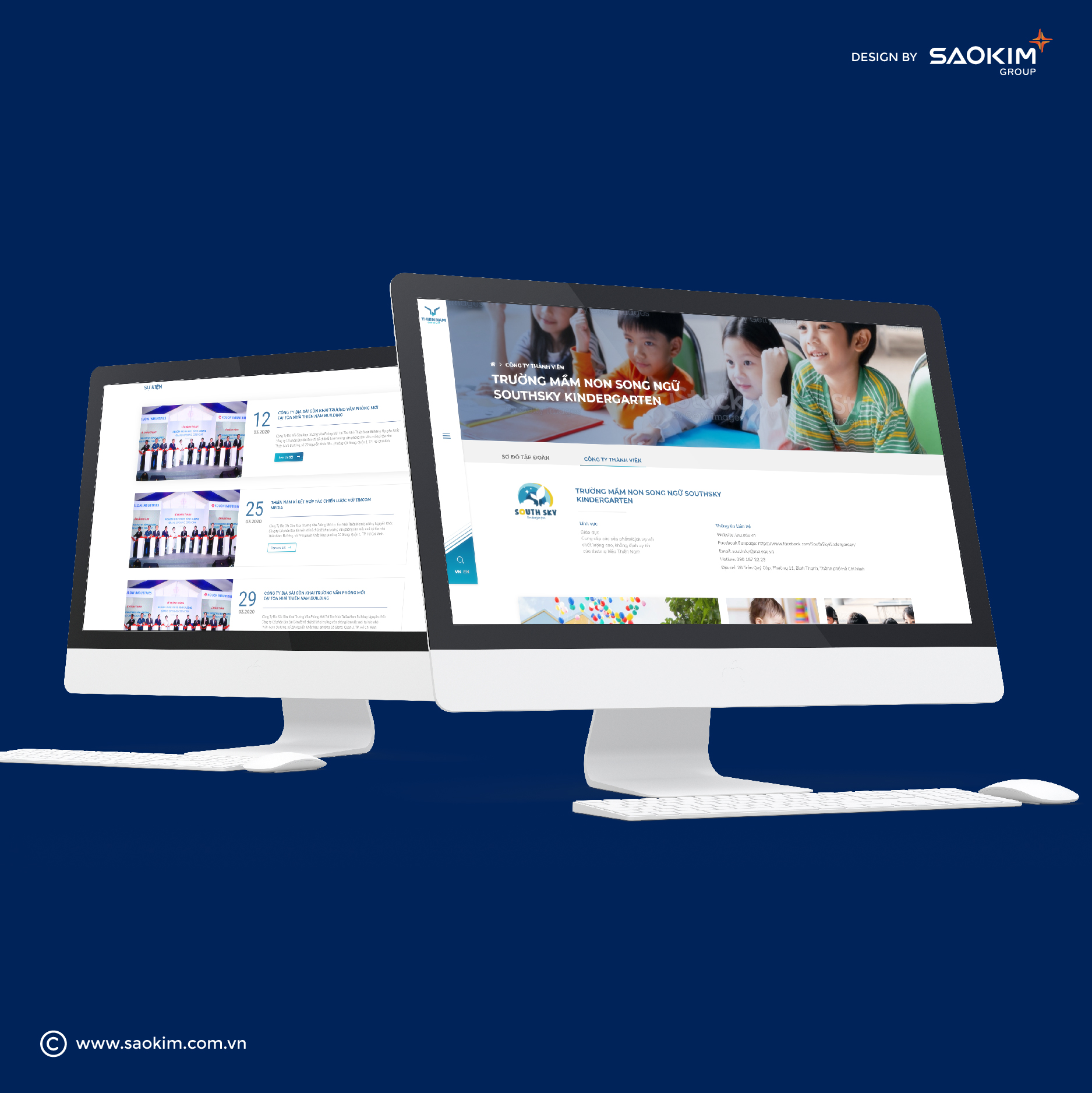 Design Website and Brand Identity Thien Nam tại TP HCM