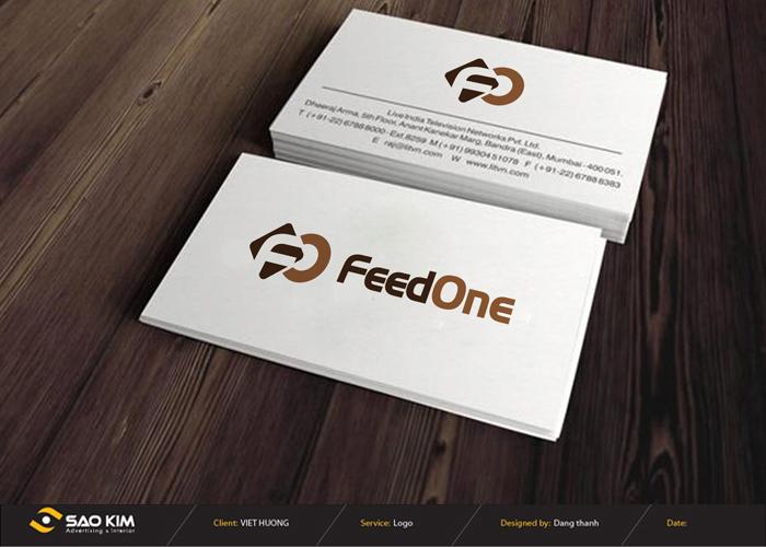 Thiết kế logo thức ăn Chăn nuôi FeedOne tại Đồng Nai