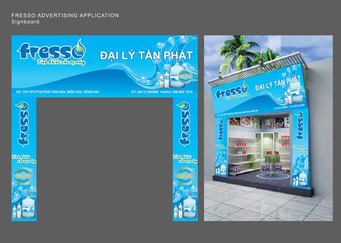 Thiết kế thương hiệu nước tinh khiết Fresso tại TP HCM