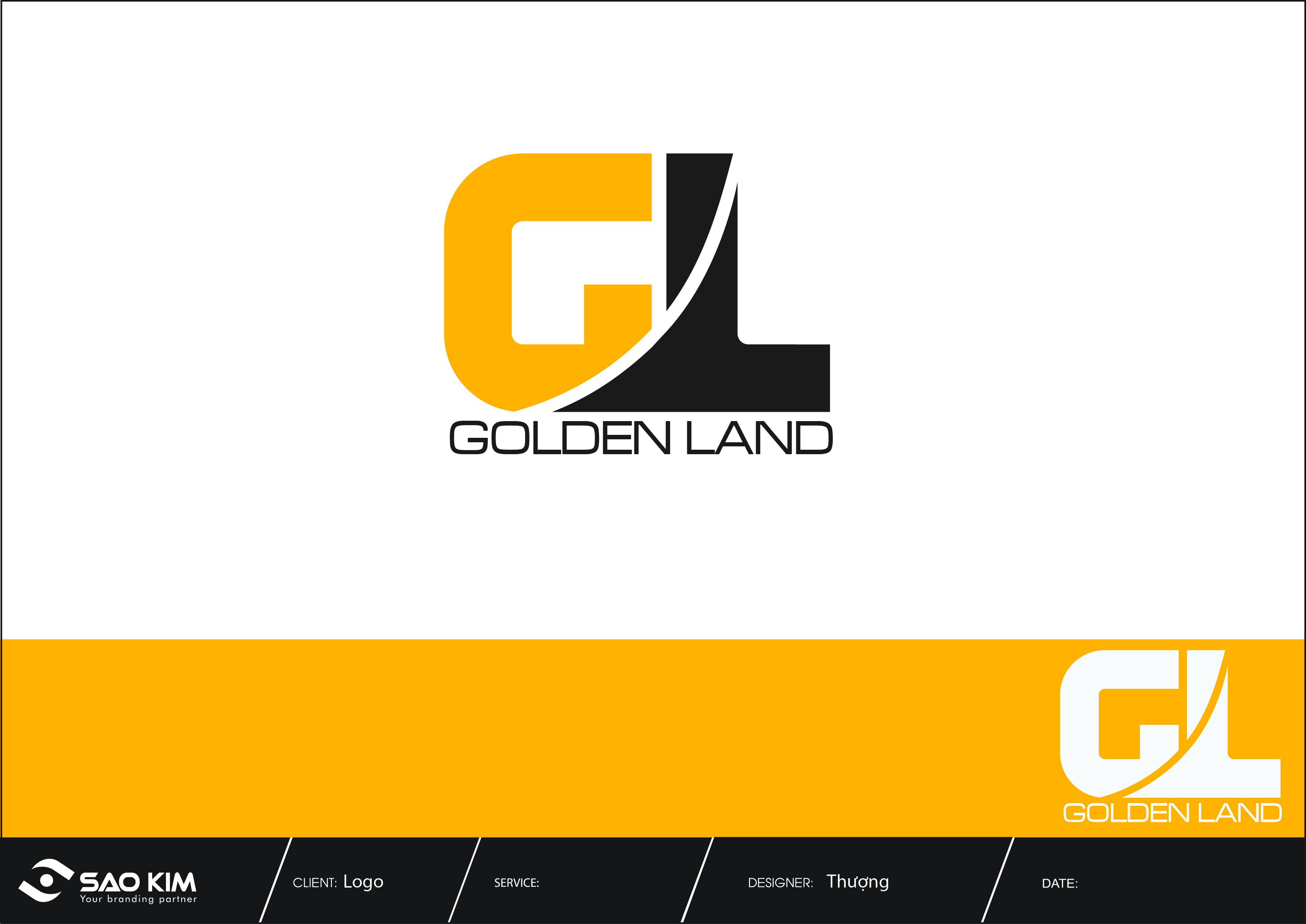 Thiết kế logo và nhận diện thương hiệu Golden Land tại Hà Nội, TP HCM