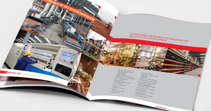 Thiết kế company Profile công ty Cổ Phần Gốm Đất Việt tại Quảng Ninh