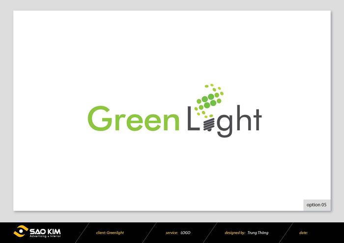 Thiết kế logo cho thiết bị điện tiết kiệm năng lượng Green Light tại Hà Nội, TP HCM