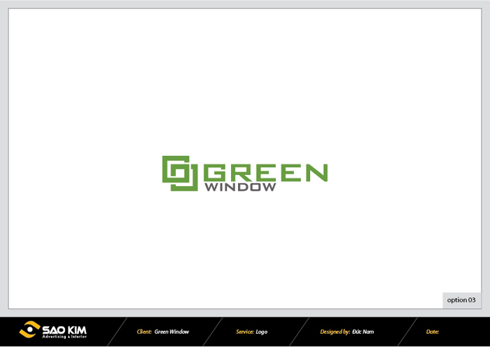 Dự án đặt tên và thiết kế thương hiệu cửa sổ Green Window tại Hà Nội