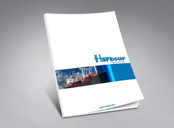 Thiết kế brochure giới thiệu công ty Harbour Logistics tại TP HCM