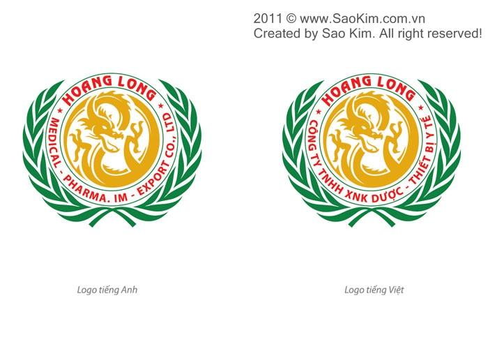 Thiết kế logo cho Công ty Dược Hoàng Long tại Hà Nội