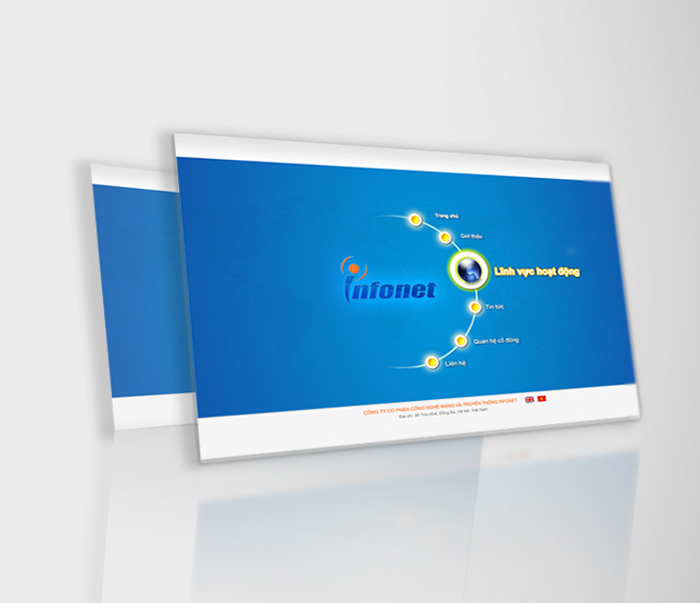 Thiết kế thương hiệu công ty công nghệ mạng INFONET tại Hà Nội