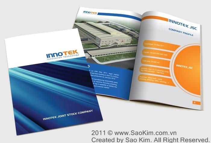 Thiết kế logo và profile cho công ty sản xuất phụ tùng ô tô INNOTEK tại Hà Nội