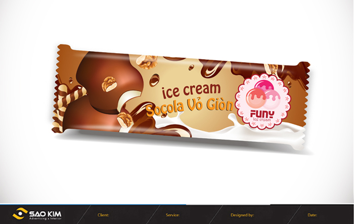Thiết kế logo và bao bì sản phẩm kem Funy tại Hà Nội, Hải Dương, Hải Phòng