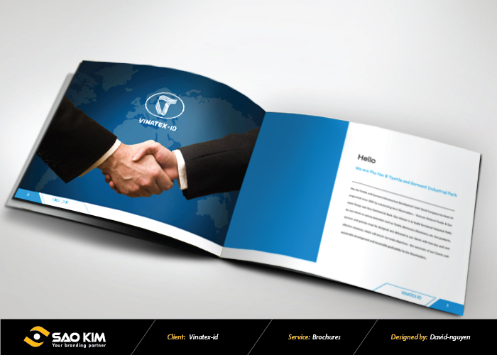 Thiết kế brochure Khu công nghiệp Dệt may Phố Nối tại Hưng Yên