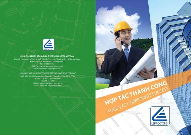 Thiết kế profile giới thiệu Công ty Lepro tại Hà Nội