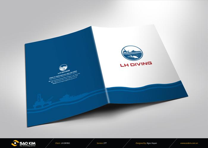 Thiết kế thương hiệu công ty Dịch vụ Lặn Lam Hồng tại Bà Rịa Vũng Tàu