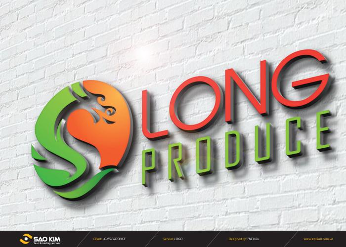 Thiết kế logo cho công ty Long Produce.Inc tại Hà Nội