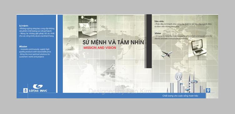 Thiết kế ấn phẩm quản cáo cho công ty Cổ phần Đầu tư LOTAS tại Bình Dương, TP HCM