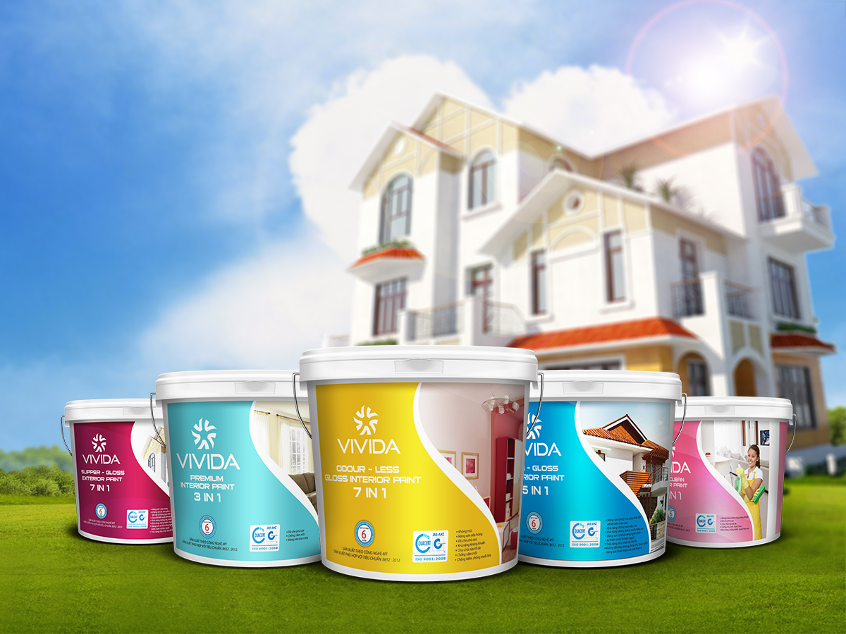 Sáng tạo tên thương hiệu và thiết kế logo nhận diện thương hiệu sơn VIVIDA tại Hà Nội