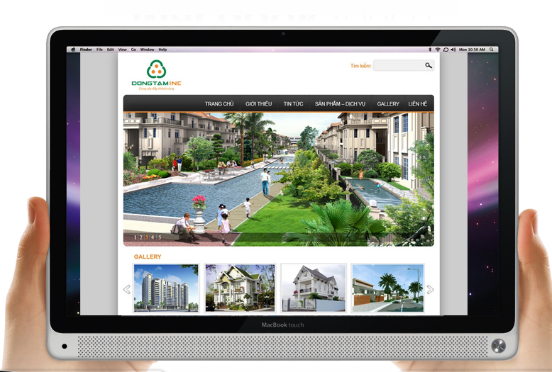 Thiết kế logo và hệ thống nhận diện thương hiệu vật liệu xây dựng Dong Tam tại Hà Nội