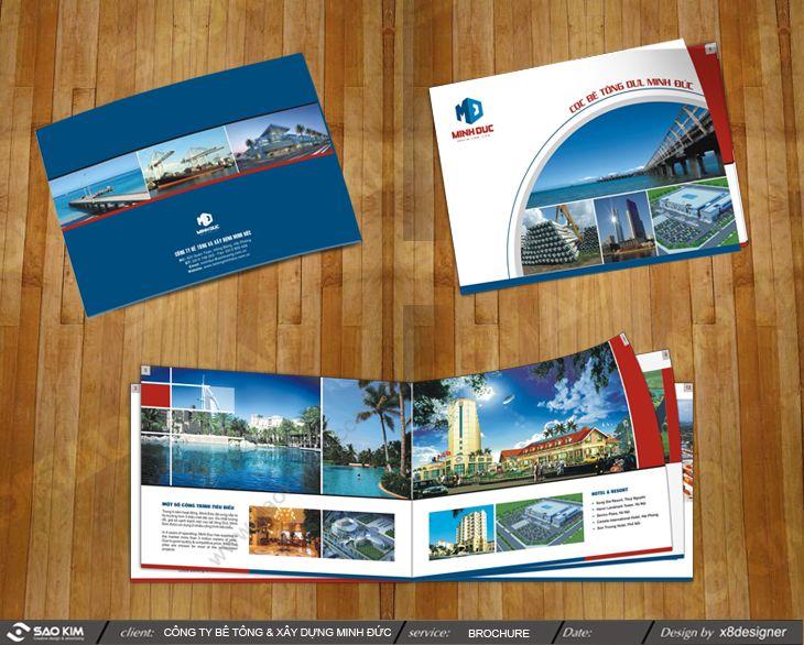 Thiết kế brochure giới thiệu Công ty bê tông xây dựng Minh Đức tại Hải Phòng