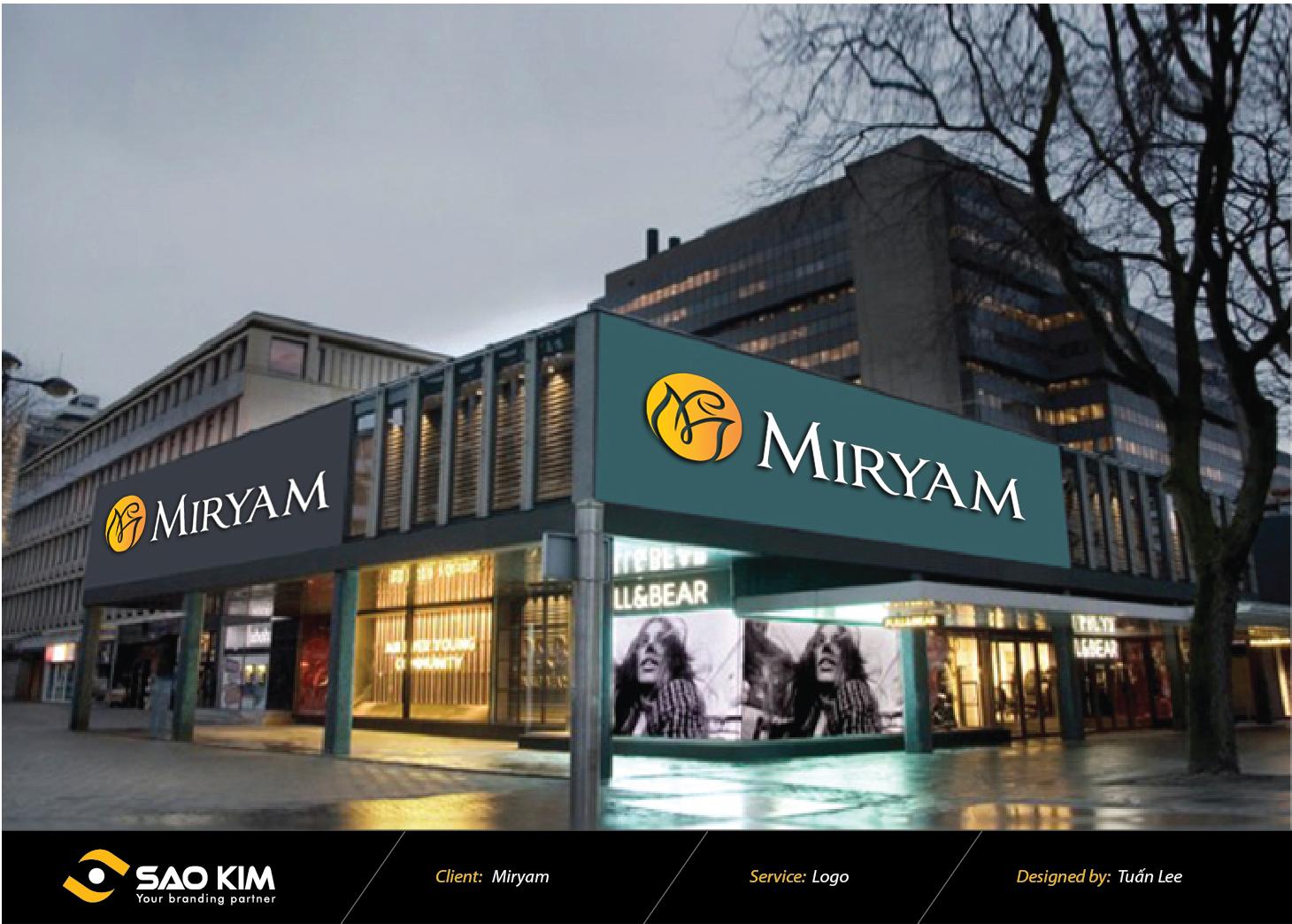 Thiết kế logo mỹ phẩm Miryam tại Hà Nội